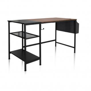 Schreibtisch Industrial design 120x60cm Schwarz braun Computertisch Arbeitstisch