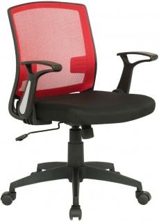 ergonomischer Drehstuhl schwarz/rot Computerstuhl Schreibtischstuhl Bürostuhl