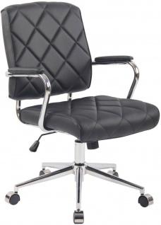 moderner Drehstuhl schwarz/Kunstleder 136kg belastbar Bürostuhl Arbeitshocker