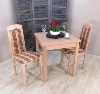Tischgruppe massivholz Buche natur gelb braun Essgruppe Stühle Tisch günstig