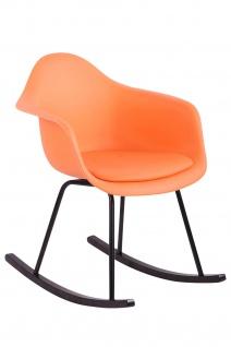 Schaukelstuhl orange Kunststoff Relaxsessel Korbsessel Sitzschale modern design