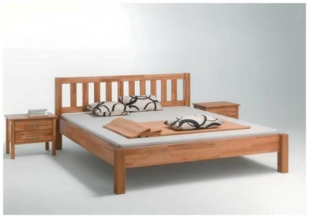 Einzelbett 100x200 cm Kernbuche massiv geölt Seniorenbett Kinderbett Komfortbett