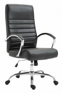 XL Bürostuhl bis 136 kg belastbar Kunstleder schwarz Chefsessel Drehstuhl stabil