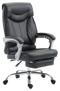 Chefsessel bis 136 kg belastbar schwarz Bürostuhl Kunstleder modern design