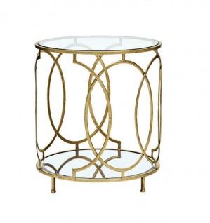 glastisch rund goldfarben spiegeltisch beistelltisch antik couchtisch ablage kaufen bei go perfect. Black Bedroom Furniture Sets. Home Design Ideas