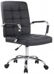 Bürostuhl 120 kg belastbar Kunstleder schwarz Drehstuhl modern design stabil