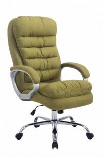XXL Bürostuhl Stoff grün dick gepolstert Chefsessel Drehstuhl belastbar stabil