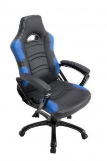 Bürostuhl 150kg belastbar schwarz blau Chefsessel schwere Personen stabil robust