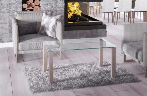 hochwertiger Glastisch Sonoma Couchtisch Sofatisch preiswert günstig modern