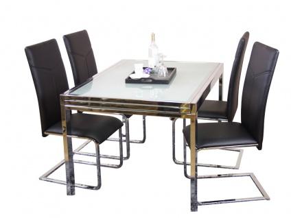 design Auszugtisch 120-240 Esstisch Küchentisch Esszimmertisch Glas modern neu