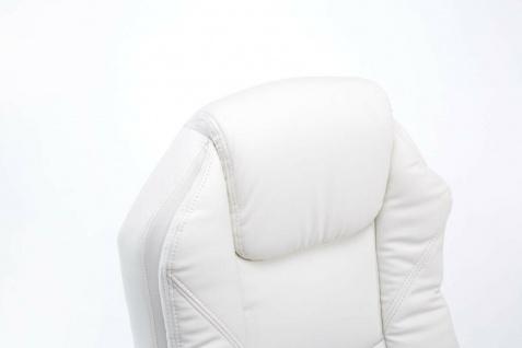Bürostuhl 120 kg belastbar weiß Kunstleder Chefsessel Computerstuhl Drehstuhl - Vorschau 5