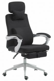 Bürostuhl 136 kg belastbar schwarz Chefsessel Drehstuhl Fußablage Zocker Gamer