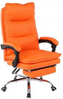 XL Bürostuhl 136 belastbar orange Kunstleder Chefsessel Computerstuhl Drehstuhl