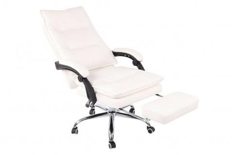 XL Bürostuhl 136 kg belastbar weiß Kunstleder Chefsessel Computerstuhl Drehstuhl - Vorschau 5