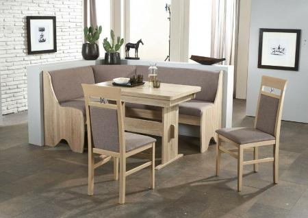 Eckbankgruppe Eiche Sonoma /grau braun Tischgruppe Essgruppe Auszugtisch modern
