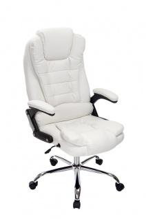 XL Chefsessel 150kg belastbar weiß Bürostuhl feinstes Kunstleder hochwertig