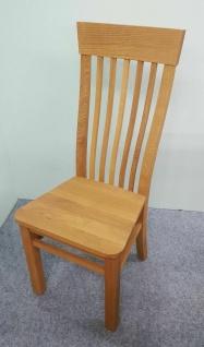 2er Set Stühle Wildeiche massivholz geölt Esszimmerstühle Hochlehnstühle stabil