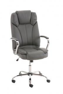 XXL Chefsessel grau bis 210 kg belastbar Bürostuhl modern design hochwertig