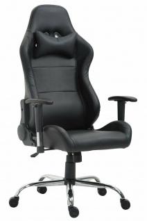 XL Bürostuhl 136 kg belastbar Kunstleder schwarz Chefsessel Gamer Zocker Gaming