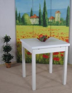 Auszugtisch weiß massivholz Esszimmertisch Tisch Küchentisch Esszimmer Küche