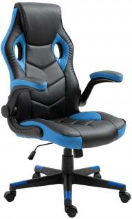 Racing Bürostuhl schwarz/blau Computerstuhl Schreibtischstuhl sportlich stabil