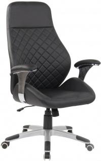 breiter Bürostuhl schwarz 150 kg belastbar Drehstuhl Chefsessel robust stabil