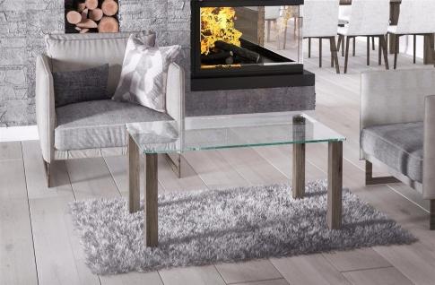 hochwertiger Glastisch San Remo Trüffel Couchtisch Sofatisch preiswert modern