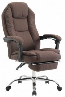 Chefsessel braun Stoff 130kg belastbar Bürostuhl Schreibtischstuhl stabil robust