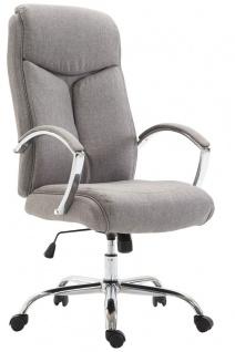 XL Chefsessel 140 kg belastbar Stoffbezug hellgrau Bürostuhl hochwertig stabil