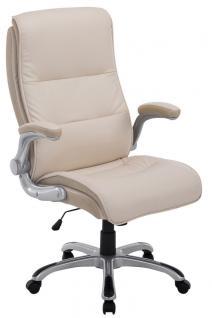 XXL Bürostuhl bis 150 kg creme Kunstleder Chefsessel modern hochwertig günstig