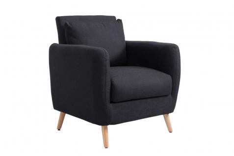 Sessel schwarz Stoff Wohnzimmersessel Polstersessel Fernsehsessel modern design