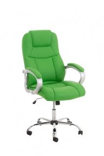 XXL Chefsessel grün belastbar Metall Kunstleder modern design günstig Bürostuhl