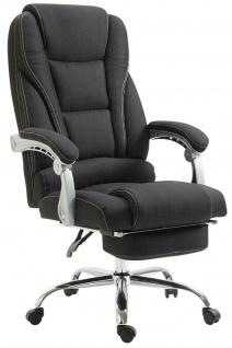 Bürostuhl Stoff schwarz Fußablage Chefsessel 150 kg belastbar Drehstuhl stabil