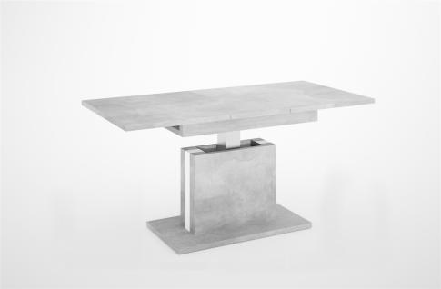 Couchtisch ausziehbar höhenverstellbar Beton Tisch Funktionstisch hochwertig
