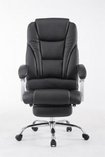 XXL Bürostuhl 150kg belastbar schwarz Kunstleder Chefsessel Fußablage Drehstuhl - Vorschau 2
