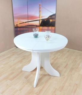 Esstisch weiß rund Ausziehbar Küche Esszimmer Bistrotisch günstig hochwertig