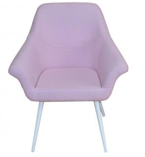 Moderner Armlehnstuhl design Relaxsessel Sitzschale Sessel Stuhl Lounge Rosa