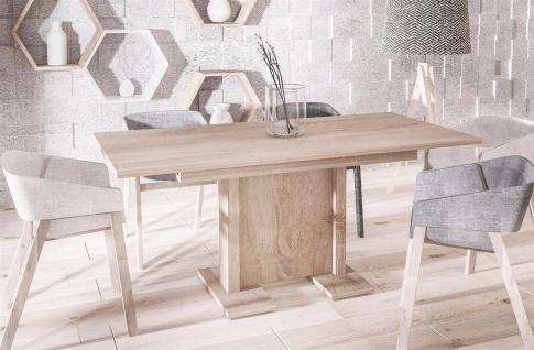 hochwertiger Säulentisch Sonoma 130-210 cm ausziehbar Esstisch modern günstig