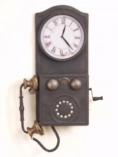 Deko Wanduhr Telefon Nostalgie-Look Uhr Antik-Stil Dekoration Wanddeko design
