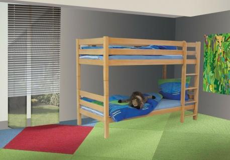 Etagenbett Buche inkl. Rollrost Hochbett Kinderbett teilbar in zwei Einzelbetten