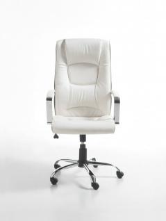 Chefsessel 120kg belastbar Kunstleder weiß Bürostuhl Drehstuhl Schreibtischstuhl - Vorschau 2