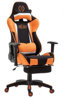 XL Chefsessel schwarz orange Stoffbezug Bürostuhl modern design hochwertig