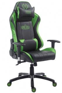 XL Bürostuhl 150 kg belastbar schwarz grün Chefsessel Zocker Gamer Gaming
