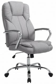 XXL Chefsessel hellgrau 210kg belastbar Bürostuhl schwere Personen stabil robust