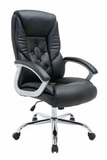 XXL Chefsessel 210kg belastbar schwarz Kunstleder Bürostuhl schwere Personen