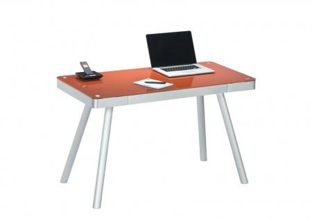 moderner Schreibtisch Glas Computertisch PC-Tisch Büromöbel Bürotisch design
