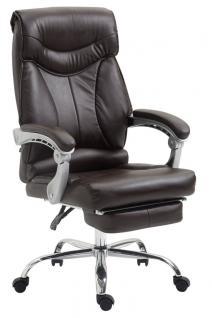 Chefsessel bis 136 kg belastbar braun Bürostuhl Kunstleder modern design robust