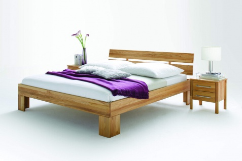 Massivholzbett 160x200 cm Kernbuche geölt massiv Doppelbett Ehebett Bettgestell