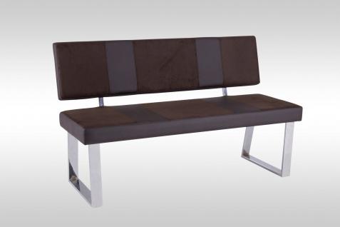 moderne Sitzbank dunkel braun Hockerbank design Leder-look günstig preiswert neu