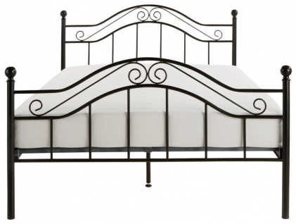 Metallbett schwarz 90x200 cm romantisch Ehebett Tagesbett Kinderbett günstig neu